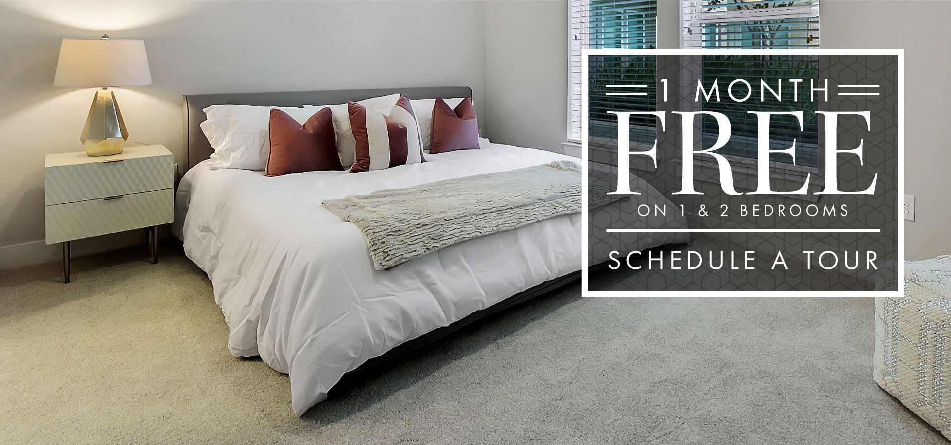1 Month Free on 1 & 2 Bedrooms   Schedule a Tour