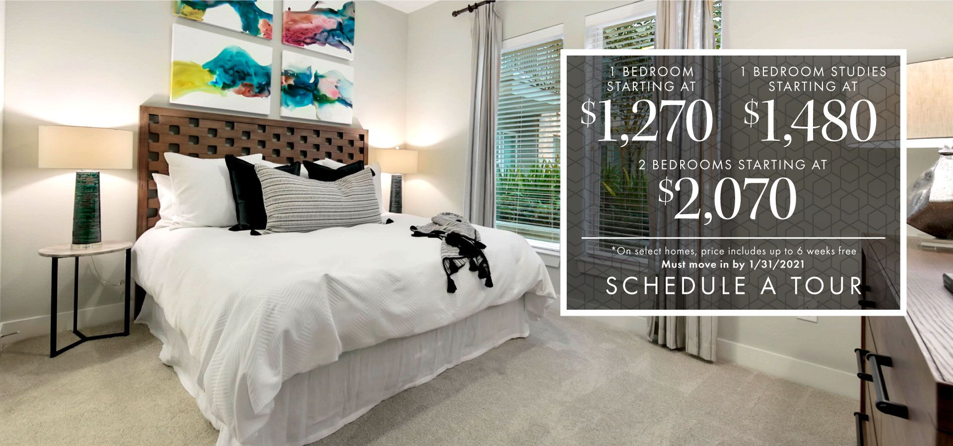 Move-In Specials for 1 and 2 Bedroom homes | Schedule a Tour Today